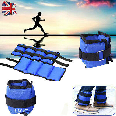 1-6KG Pair Ankle Wrist Leg Weights Running Exercise Fitness Gym Strength Workout
