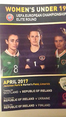 REPUBLIC OF IRELAND v FINLAND/UKRAINE/Scotland U19 Women April 2017 MINT