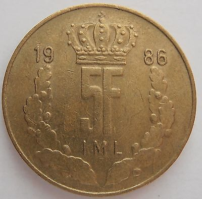 1986 Luxembourg 5 Francs