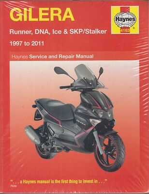 Gilera Runner Dna Ice & Skp / Stalker (1997-2011) Service & Repair Manual *new*