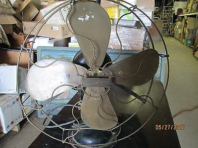 Antique Century Electric Fan  W/ Brass Blades  Working