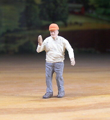 Detailed Contractor, Const. Worker Metal Pewter Figure O / S Scale Train Layout