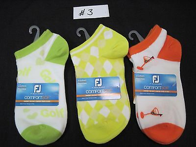 FootJoy ComfortSof Women's Golf Socks, 3 Pairs Per Pack, Fits Shoe Size 6-9, New