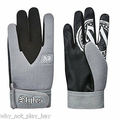 Wwe Tna official replica aj styles gloves grey adult kids cosplay wrestling