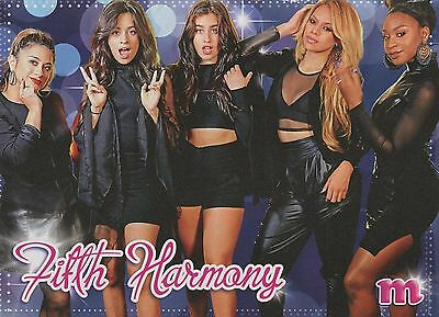 FIFTH HARMONY - SHAWN MENDES - 2016 - M magazine CLIPPING - PINUP - MINI POSTER