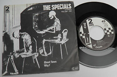 "Specials-Ghost Town-GERMAN Vinyl 7""-2Tone Ska Two Tone Skinhead Mod-1981-HEAR"