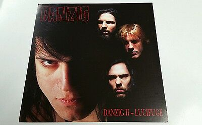 DANZIG II - Lucifuge 2-sided PROMO Mint FLAT / Poster  12x12  *Rare.. Framable