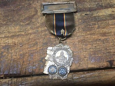 Rare New Hampshire 22nd Annual Convention Medal Old Man Of The Mountain