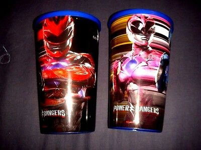 Power Rangers 2017 Mexico Movie Theater Exclusive Plastic Cups set of 2