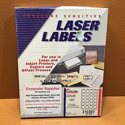 Compulabel White Circular Labels Laser & Inkjet: Compare to Avery 5293 68 Sheets