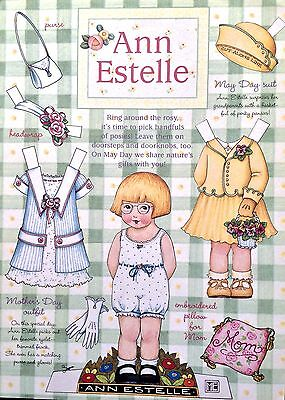 Mary Engelbreit Mag. Paper Doll, ANN ESTELLE, April/May 1998, Uncut