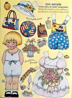 MARY ENGELBREIT Mag. Paper Doll, Ann Estelle, June/July 2007, Uncut