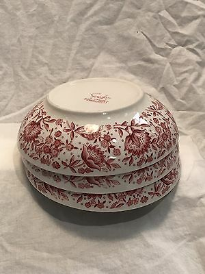 Syracuse MAYFLOWER Carefree China  Cottage Red Pink Floral Bowl 6.5 Inch Rare