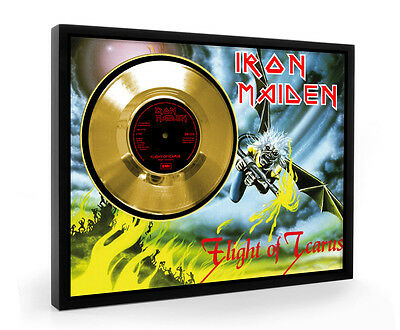Iron Maiden Flight Of Icarus Framed Gold Disc Record Vinyl (C1)