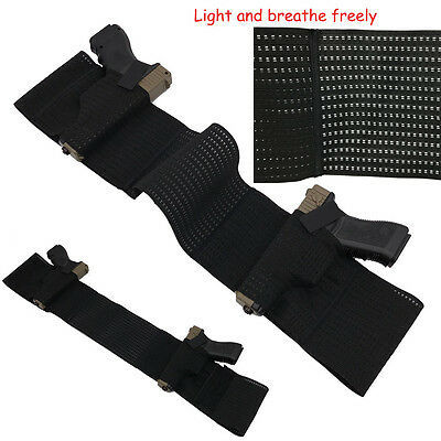 Concealed Carry Belly Breathable Band Right Left Pistol Holster Fits All Black