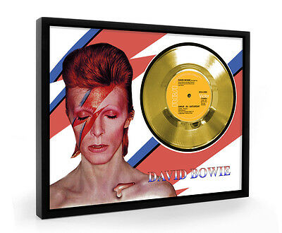 David Bowie Drive In Saturday Framed Gold Disc Display Vinyl (C1)