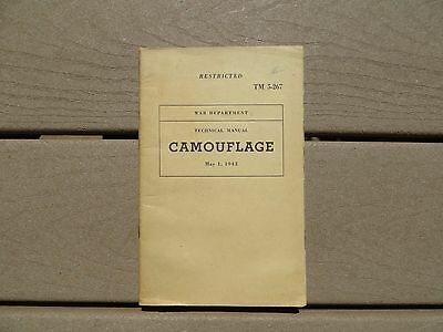 TM 5-267 US Army Technical Book Camouflage Military 1943 Color Plates