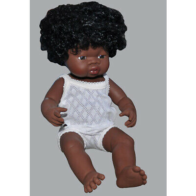 "ANATOMICALLY Correct BABY DOLL AFRICAN ""Black"" ETHNIC GIRL Pretend PLAY Kids TOY"