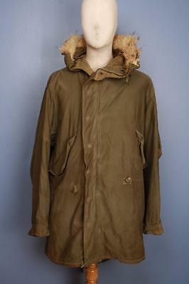 Superb RARE Vtg M48 US ARMY Fishtail Parka Mod M-1948 M 1948 M-48 Size Small
