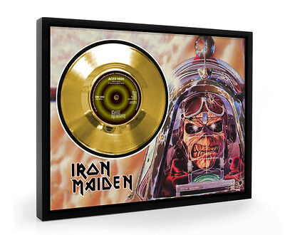 Iron Maiden Aces High Framed Gold Disc Display Vinyl (C1)