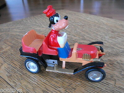 Marx Walt Disney Goofy Car Plastic Friction Toy Orig Price Sticker Intact