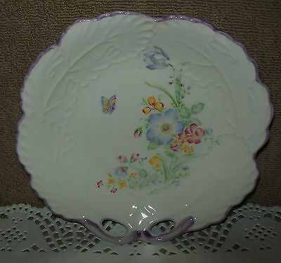 VINTAGE HAND PAINTED CHINA PLATE with FLORAL DESIGN - JAPAN