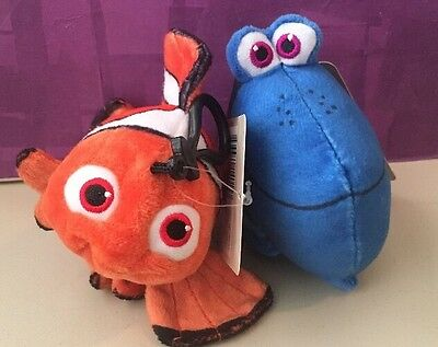 Finding Dory! Dory And Nemo New WITH TAGS CLIP Plush Coin Purse (lot Of 2)