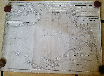 North Sea - blueback chart, Norie, 1818