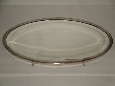 Antique Brasscrafters Oval Mirror Beveled  Vanity Victorian Wall
