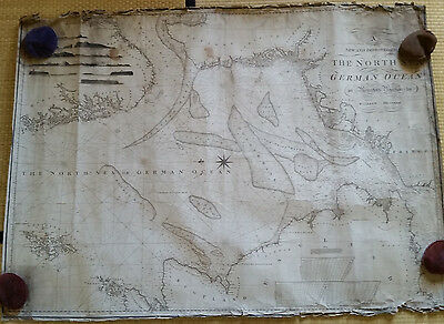 North Sea - blueback chart, Heather, 1797