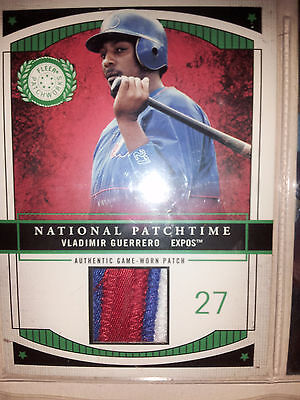 Mlb Vladimir Guerrero National Authentic 2003 Patch Only 100 Montreal Expos