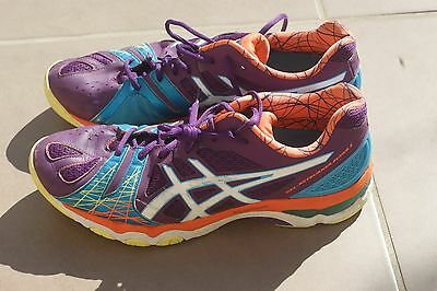 Asics Gel - Netburner Super 5 Women's Netball Shoes Size 12 Sneakers Used