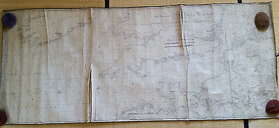 English Channel - linen-backed chart, Heather, 1801