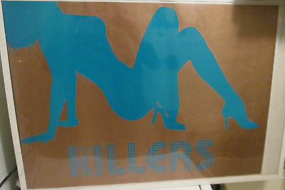 Killers Engage Poster  Rare New Poster Late 2000's Vintage