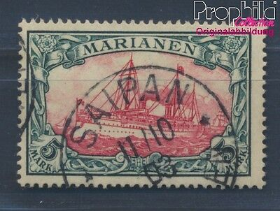 Marianas German Colony 19 proofed used 1901 Imperial Yacht Hohenzollern (8305250