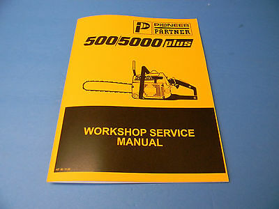 Genuine partner 5000 chainsaw service manual in english only 31.