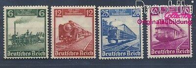 German Empire 580-583 MNH 1935 German Railways (8496773