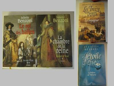 Lot livres : 4 romans de Juliette Benzoni