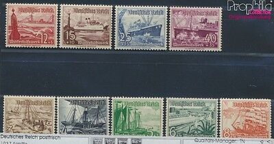 German Empire 651-659 unmounted mint / never hinged 1937 Vessels (8669675