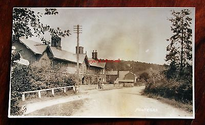 Rare Original Photo Postcard Rp  Pontrilas Hereford  Road Sign  Houses