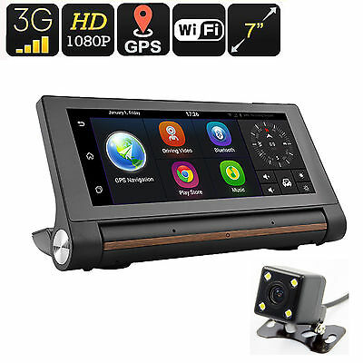 Smart Car DVR 7 Inch Touch Screen 1280*480 Quad core Android 5.0 3G WiFi GPS+Cam