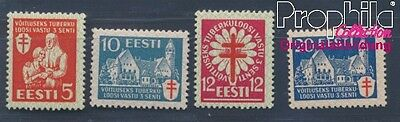 Estonia 102-105 (complete issue) with hinge 1933 Tuberculosis (8357698