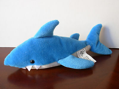 "24K COMPANY MIGHTY STAR SHARK 5113 SHARKIE BEANIE PLUSH 11"" Stuffed Animal Toy"