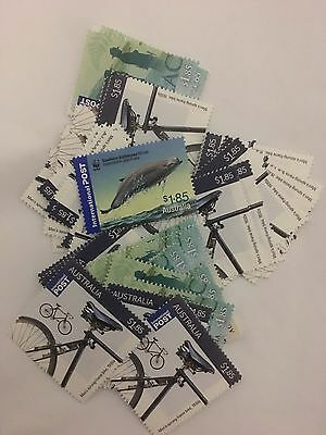 200 MUH $1.85 Australia International postage Stamps, Fv Is $370 + Tax Invoice