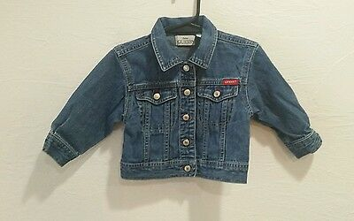 BABY GUESS Baby Infant Toddler Boy Girl Denim Blue Jean Jacket 12 Months 1 Year