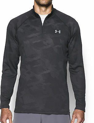 Under Armour Tech Jacquard Long Sleeve Mens Running Top - Black