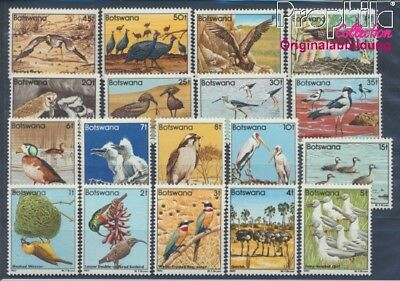 Botswana 299-316 unmounted mint / never hinged 1982 clear brands: Birds (8497052