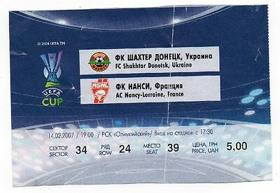 Ticket EC Schachtjor Donezk - AS Nancy 15.02.2007