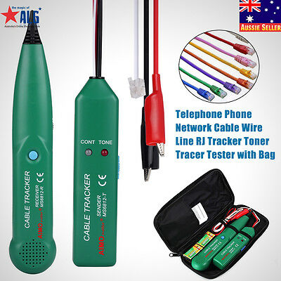 Telephone Phone RJ Network Cable Tracker Wire Line Tone Generator Tracer MS6812