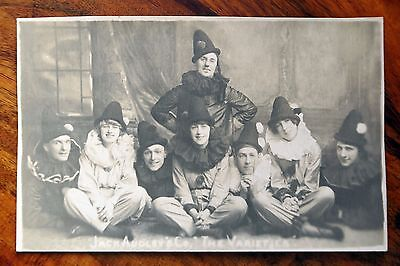 """C 1920S Photo Postcard Rp Jack Audley's Co. """"the Varieties"""" Music Hall Theatre"""